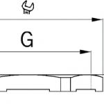 EMC-LN lock nut diagram