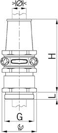 NPB-ANC cable gland diagram