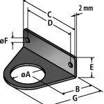 BW-M fastening angle diagram
