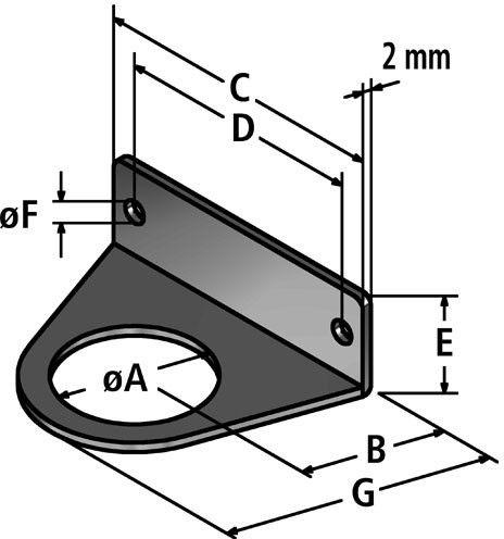 BW-P fastening angle diagram
