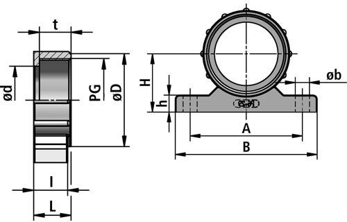 BWK-P screw connector diagram