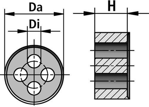 DE-M multiple sealing insert diagram