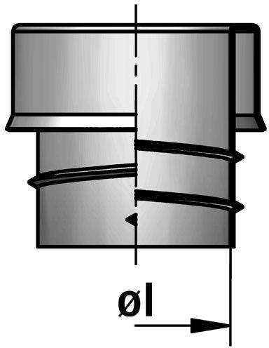 EEM Brass terminal sleeve diagram