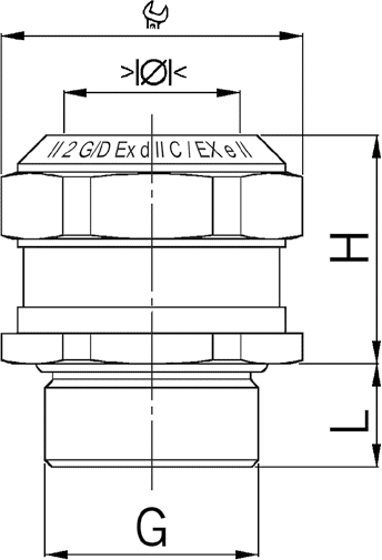 EX Compact MS cable gland diagram
