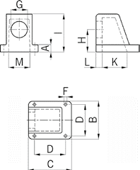 FED90 cable gland diagram