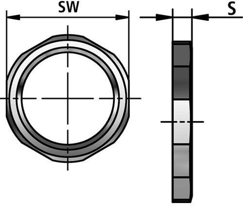 GM-P lock nut diagram