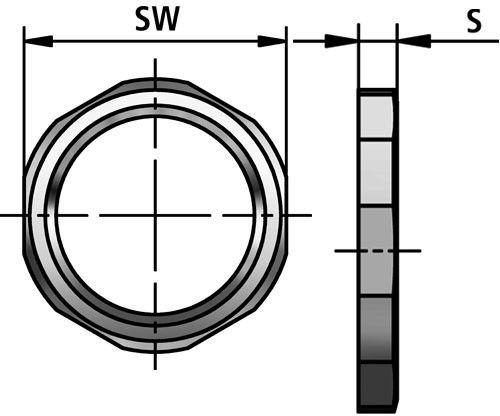 GMK-N lock nut diagram