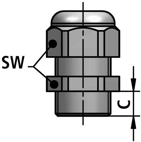 KSK-P cable gland diagram