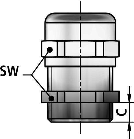 KSM-P cable gland diagram