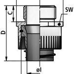 li p cable gland diagram
