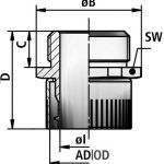 lif p cable gland diagram