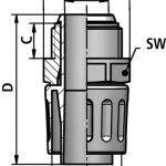 LKI-P fitting diagram