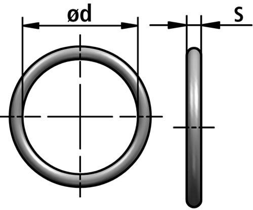 OR-P o-ring diagram