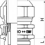 Progress EMC powerCONNECT cable gland diagram