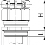 Progress MS EMC KB EX cable gland diagram