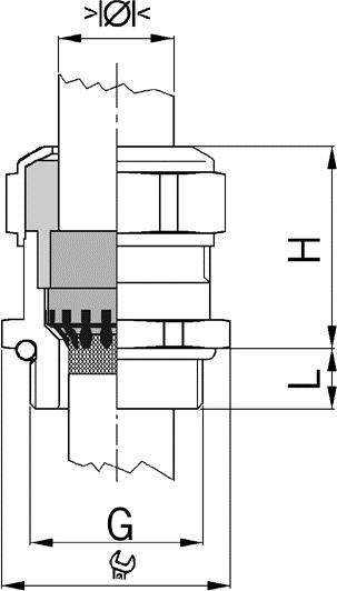 Progress MS EMC Rapid cable gland diagram