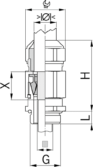 Progress MS EMV Series 85 cable gland diagram