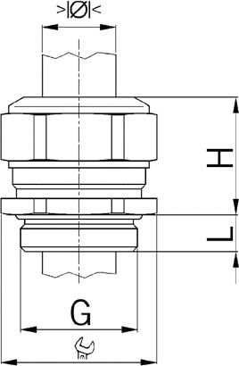 Progress MS EX cable gland diagram