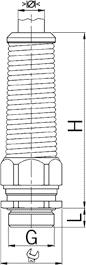 Progress MS FKN cable gland diagram