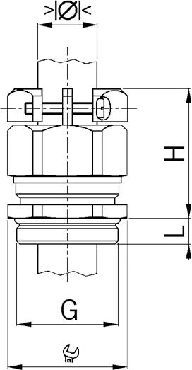 Progress MS KB EX cable gland diagram