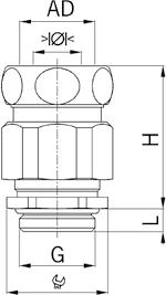 Progress MS Kombi EMC cable gland diagram