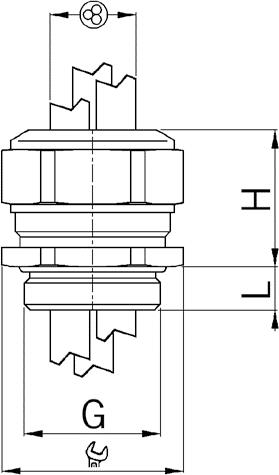 Progress MS Multi EX cable gland diagram