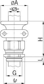 Progress MS T+KB cable gland diagram
