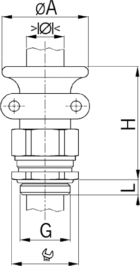 Progress MS T+KB EX cable gland diagram