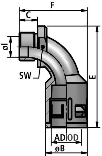 RQB1 90-M fitting diagram