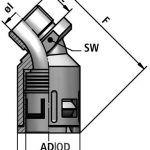 FLEXAquick Fitting RQB45-P Diagram