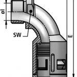 FLEXAquick Fitting RQB90-M Diagram