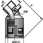 FLEXAquick Fitting RQB45-M Diagram