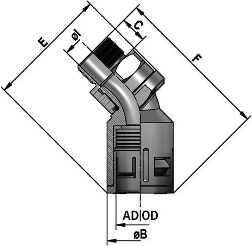 FLEXAquick Fitting RQBK45DR-M Diagram