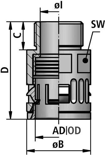 FLEXAquick Fitting RQG-N Diagram