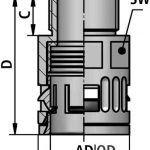 FLEXAquick Fitting RQG1-N Diagram