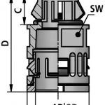 FLEXAquick Fitting RQG1-S Diagram