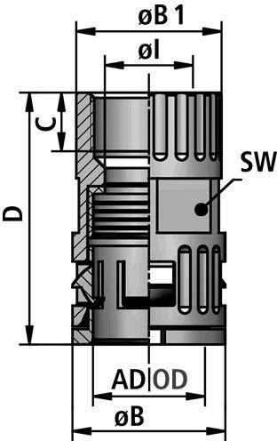 FLEXAquick Fitting RQG2-P Diagram