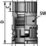 FLEXAquick Fitting RQG2-U Diagram