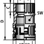 FLEXAquick Fitting RQG3-M Diagram