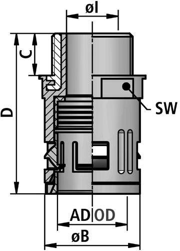 FLEXAquick Fitting RQGK-M Diagram