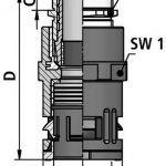 FLEXAquick Fitting RQGKZ-P Diagram