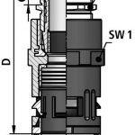 FLEXAquick Fitting RQGKZE-M Diagram