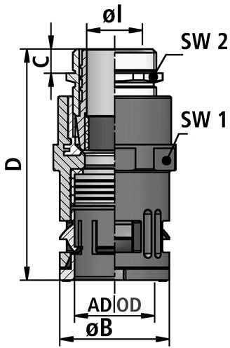FLEXAquick Fitting RQGKZP-M Diagram