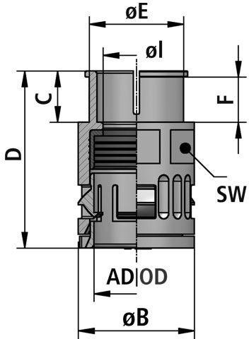FLEXAquick Fitting RQGST Diagram