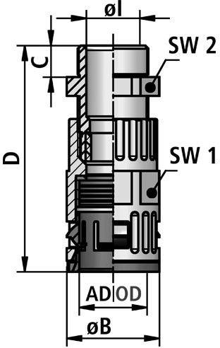 FLEXAquick Fitting RQGZ-M Diagram