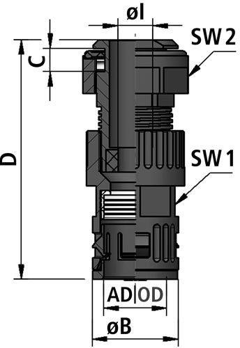 FLEXAquick Fitting RQGZ-S Diagram