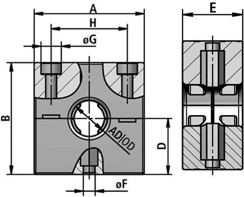 RQM tubing clamp system diagram