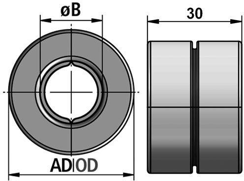 RQMR Tubing Clamp Reducer diagram
