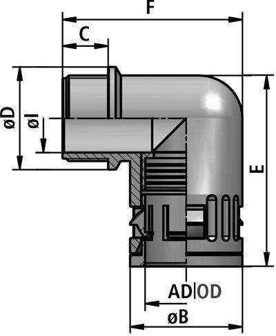 FLEXAquick Fitting RQW-P Diagram