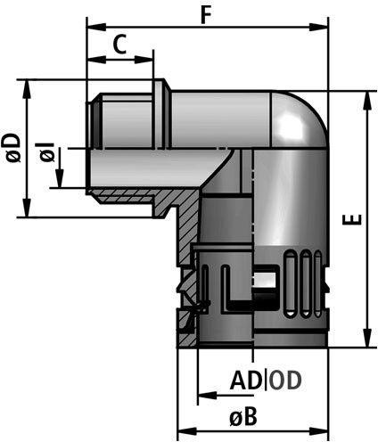 FLEXAquick Fitting RQW1-N Diagram